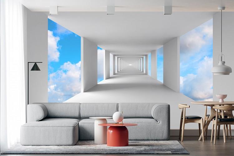 Fototapeta korytarz z niebem
