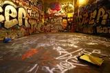 Graffiti szeroki kąt z wałkiem