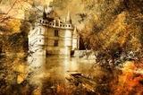zamek - grafika w stylu malarstwa