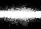 Abstrakcjonistyczna splatter rama w czerni i biel