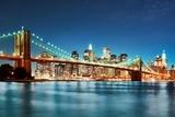 Most Brooklyński w nocy