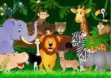 Kreskówka dzikiego zwierzęcia