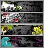 zestaw czterech graffiti stylu nieczysty miejskich banerów