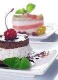Ciasto wiśniowe z kremem czekoladowym