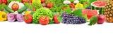 Kolorowe zdrowe świeże owoce i warzywa