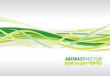 abstrakcyjne tło zielone spiralne linie