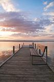 Kładka na Steinhuder Meer, wieczorna cisza, romantyczny, krajobrazowy