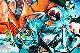 Abstrakcjonistyczny graffiti szczegół na textured ścianie