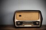 antyczne radio na tło
