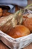 Świeżego chleba z kłosy pszenicy