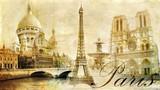 piękny Paryż - vintage kartka pocztowa
