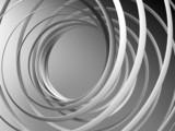 Monochromatyczny abstrakta 3d spirali tło