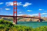 Golden gate bridge dnia żywy krajobraz, San Fransisco