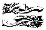 Czarno-białe graffiti tła
