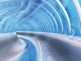 Konceptualna abstrakcjonistyczna perspektywa odpłaca się futurystycznego krzywa tunel