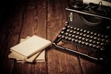 Vintage do pisania i stare książki, retusz w stylu retro