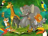 Kreskówka safari - ilustracja dla dzieci