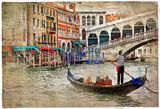 romantyczne kanały weneckie - artystyczny obraz w stylu malarskim