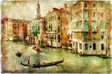 Wenecja - grafika w stylu malarstwa