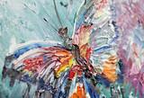 zbliżenie fragmentu obraz olejny motyla