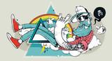 Streszczenie graffiti hipster