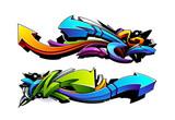 Wzory strzały graffiti