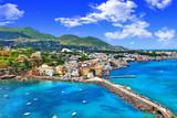 piękna Ischia isalnd - widok z castela. Włochy