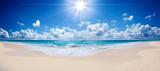 tropikalna plaża i morze - krajobraz