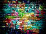 mur z cegły graffiti