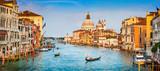 Canal Grande panorama przy zmierzchem, Wenecja, Włochy