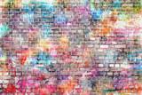 Kolorowa grunge sztuki ściany ilustracja, tło