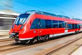 Nowoczesny pociąg dużych prędkości
