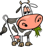 ilustracja kreskówka krowa zwierząt gospodarskich