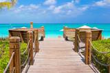 Piękny tropikalny krajobraz na wyspie Providenciales w