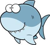 Rekin kreskówka szczęśliwy
