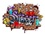 Skład kompozycji słowo graffiti