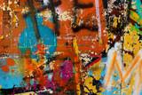 Graffiti na ścianie - szczegół graffiti malował na ścianie