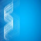Niebieska abstrakcyjna technologia