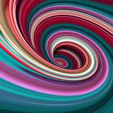 abstrakcyjne tło 3d, kolorowe linie w paski spiralne