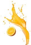 rozpryskiwania soku pomarańczowego