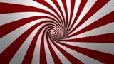 Hipnotyczna spirala - wirowa, czerwone i białe tło w 3D