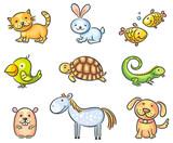 Zwierzęta domowe kreskówka