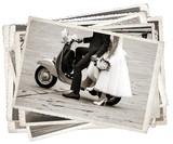 Vintage zdjęcia z nowożeńcy