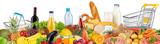 panorama stosu żywności