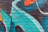 Graffiti ściany zakończenie / makro-