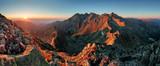 Panorama górski krajobraz jesień