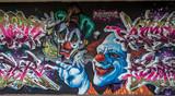 Klaun graffiti w Moguncji Kastel