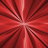 Koncepcja kwiat czerwony fraktal z powtarzających się krzyż kwiat