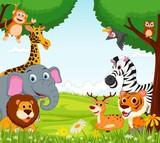 Zwierzęca kreskówka w dżungli