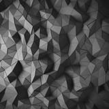 Abstrakcjonistyczna czarna 3D wieloboka geometryczna aspekt tła mozaika robić edgy trójbokami